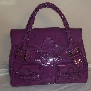 Valentino Patent hard to find purple Histoire Bag